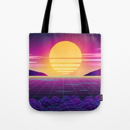 Classic Sunset Synthwave Tote Bag
