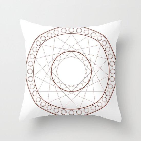 Anime Magic Circle 17 Throw Pillow