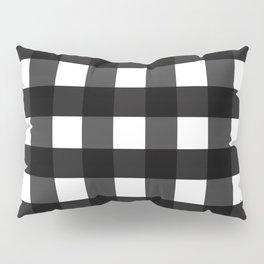 Contemporary Black & White Gingham Pattern Pillow Sham