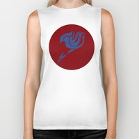 fairy tail Biker Tanks featuring Fairy Tail Segmented Logo (Erza) circle by JoshBeck