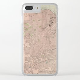Vintage Map of San Francisco CA (1906) Clear iPhone Case