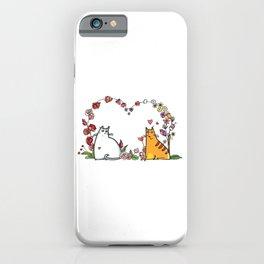 Happy Valentine Cat iPhone Case