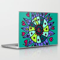 cara Laptop & iPad Skins featuring Cara Blue by Ellie And Ada