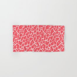 Salmon Pink Cracked Paint Hand & Bath Towel