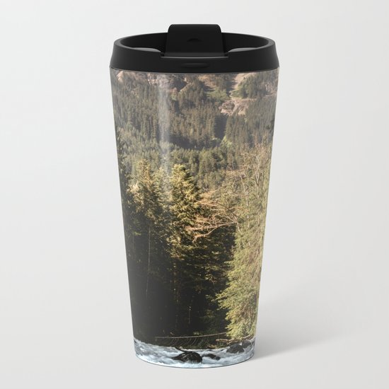 Mountain River Run Metal Travel Mug