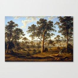 John Glover Launceston and the River Tamar Canvas Print