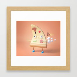 Pizza Fart Framed Art Print