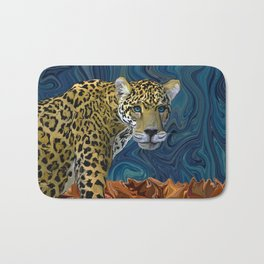 Leopard with the Sky in His Eyes Bath Mat