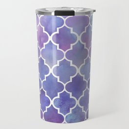 Purples & Pinks Watercolor Moroccan Pattern Travel Mug