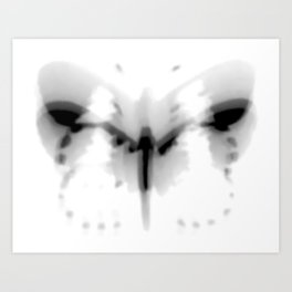 Fluttering Butterfly Black and White Photography/Digital Art Art Print