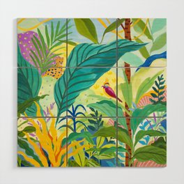 Paradise Jungle Wood Wall Art