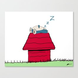 Snorelaxing Canvas Print