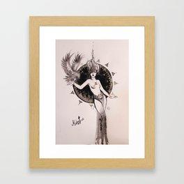 Hawk Lady Framed Art Print