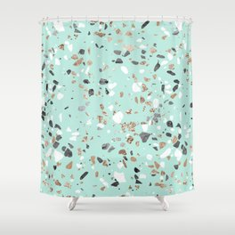 mint green shower curtain. Glitter and Grit Marble Mint Green Shower Curtain Terrazzo Curtains  Society6