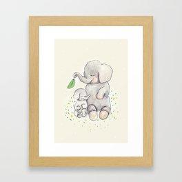 Mother Love, nursery decor Framed Art Print