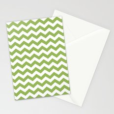 Greenery chevron Stationery Cards