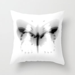Fluttering Butterfly Black and White Photography/Digital Art Throw Pillow