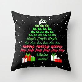Fa la la Joy Christmas Throw Pillow