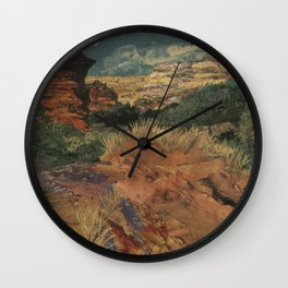 Rocky Desert Collage Wall Clock