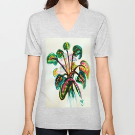 A Bouquet of Leaves Unisex V-Neck