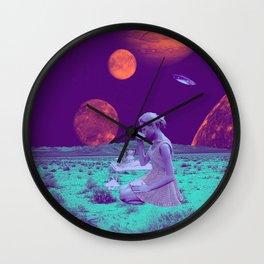 Intergalactic Tea Party  Wall Clock