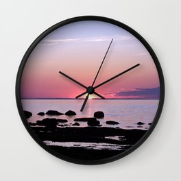 Coastal sunset Wall Clock