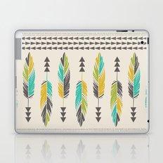 Painted Feathers-Cream Laptop & iPad Skin