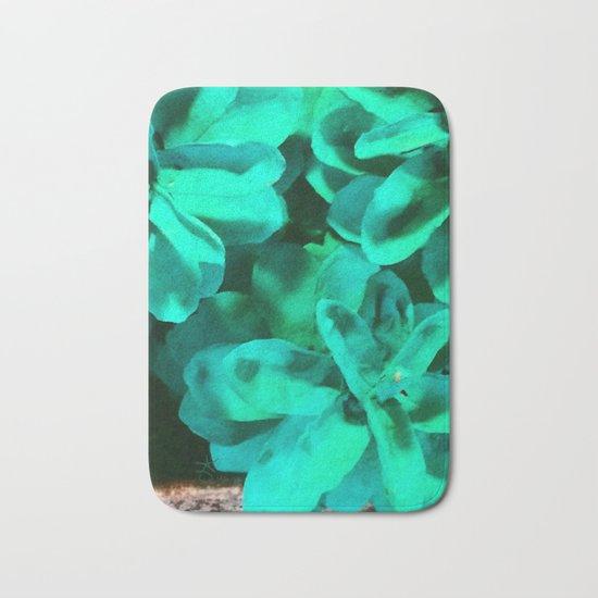 Green Pinecone Roses Bath Mat