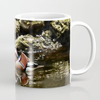 duck Mugs featuring Duck by Anand Brai