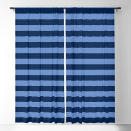 Slate blue and Light Blue Thin Stripes Blackout Curtain