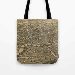Vintage Pictorial Map of Plattsburgh NY (1899) Tote Bag