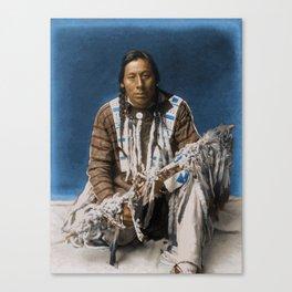 A medicine pipe - Blackfoot - American Indian Canvas Print