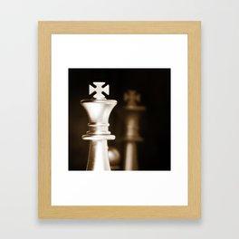 Chess-Sliver King Framed Art Print