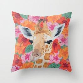 George the Giraffe Throw Pillow