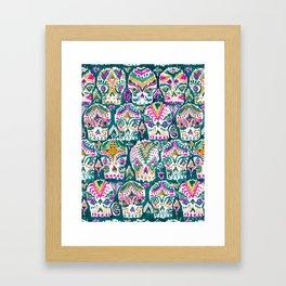CARPE DIEM SKULLS - EMERALD Framed Art Print