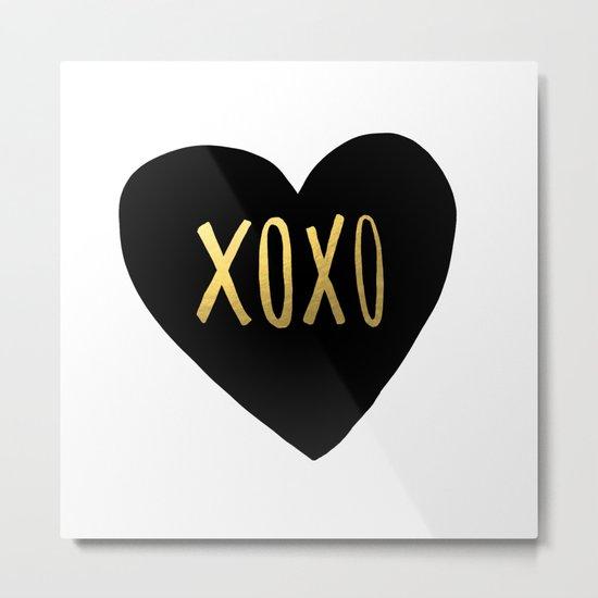 XOXO x Gold Metal Print