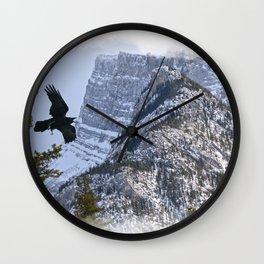 Mt Rundle & Raven (Canadian Rockies) Wall Clock