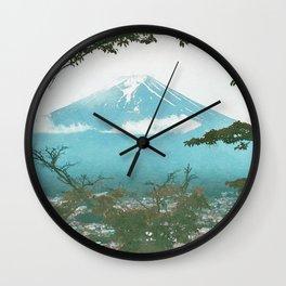Japan watercolor painting #5 Wall Clock