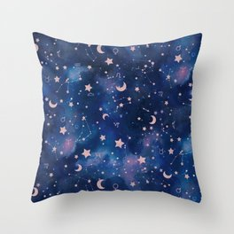 Zodiac - Watercolor Throw Pillow