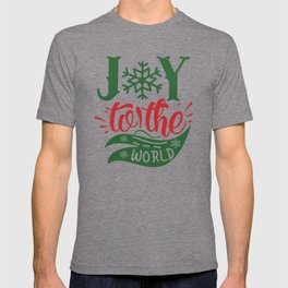Joy To The World Christmas Typography Slogan T-shirt