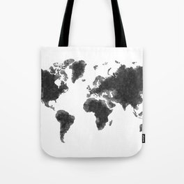 World Map Black Sketch, Map Of The World, Wall Art Poster, Wall Decal, Earth Atlas, Geography Map Tote Bag