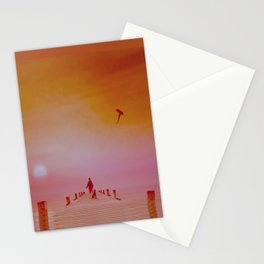 Boy with kite and dog Stationery Cards