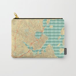 Portland Maine Map Retro Carry-All Pouch