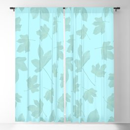 Exotic leaves pattern 30 Blackout Curtain