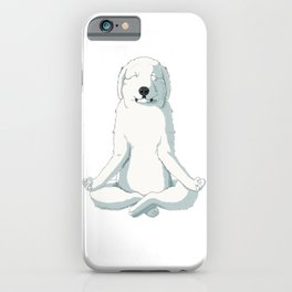 Yoga Great Pyrenees Dog iPhone Case