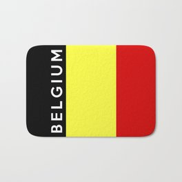 belgium country flag name text Bath Mat