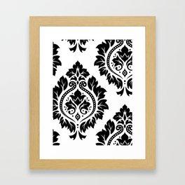 Decorative Damask Art I Black on White Framed Art Print
