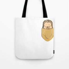 Hedgehog In Pocket Tote Bag