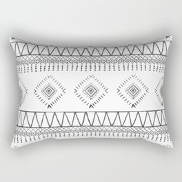 Gray Boho Aztec Rectangular Pillow