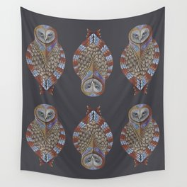 Owl Totem Wall Tapestry
